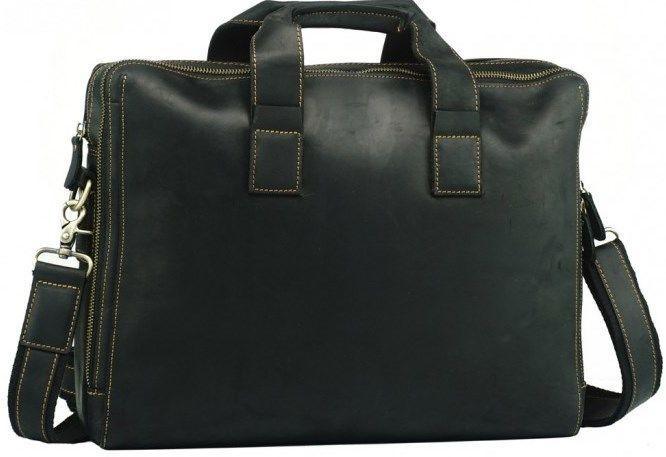Сумка Vintage 14568 из винтажной кожи Черная, Черный