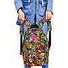 Женский городской спортивный рюкзак с цветочным принтом
