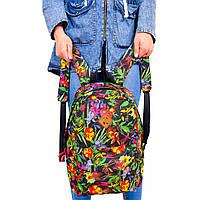 Женский городской спортивный рюкзак с цветочным принтом, фото 1