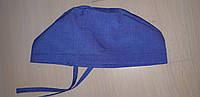 Женская медицинская шапочка х/б с завязкой, фото 1