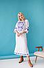 Женское платье с орнаментом Ровена белая, фото 3