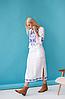 Женское платье с орнаментом Ровена белая, фото 2