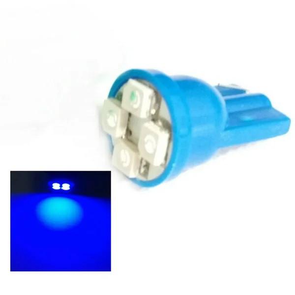 T10 4-SMD LED W5W лампочка автомобильная синий