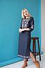 Женское платье вышиванка Ровена синяя, фото 4