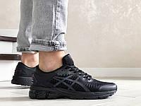 Мужские кроссовки Asics Gel-Kayano 25, сетка, пена, черные.