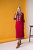 Платье вышиванка Ровена бордо, фото 2