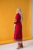 Платье вышиванка Ровена бордо, фото 4