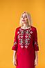 Платье вышиванка Ровена бордо, фото 7