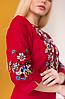 Платье вышиванка Ровена бордо, фото 6