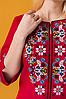 Платье вышиванка Ровена бордо, фото 5