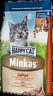 Сухой корм для кошек Happy Cat Minkas Geflugel 10кг