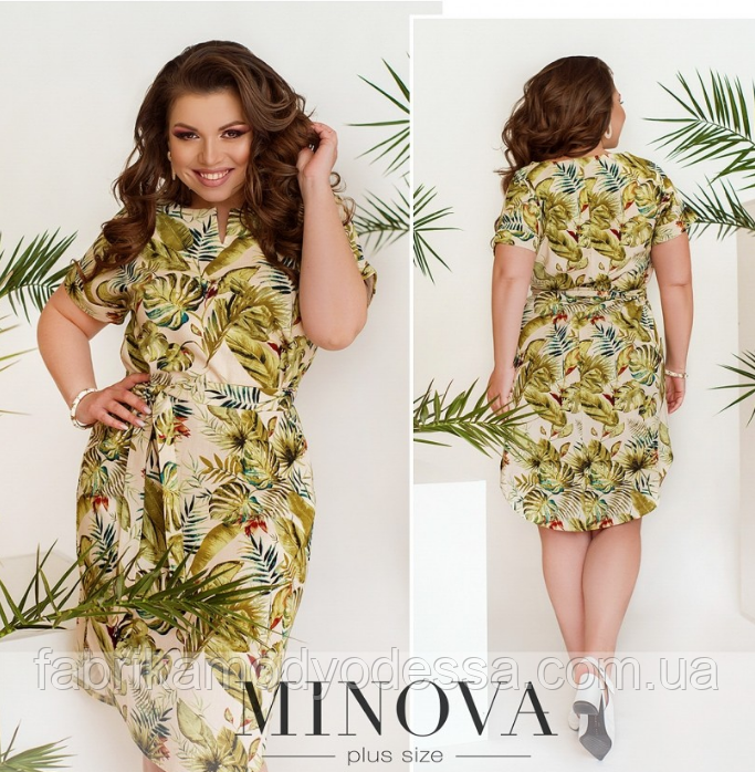 Льняное платье Размеры: 50,52,54