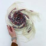 Шелковые травы 1894-3, павлопосадский платок шерстяной (двуниточная шерсть) с шелковой бахромой, фото 4