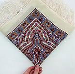 Шелковые травы 1894-3, павлопосадский платок шерстяной (двуниточная шерсть) с шелковой бахромой, фото 5