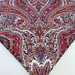 Шелковые травы 1894-3, павлопосадский платок шерстяной (двуниточная шерсть) с шелковой бахромой, фото 7