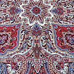 Шелковые травы 1894-3, павлопосадский платок шерстяной (двуниточная шерсть) с шелковой бахромой, фото 8