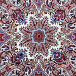 Шелковые травы 1894-3, павлопосадский платок шерстяной (двуниточная шерсть) с шелковой бахромой, фото 6