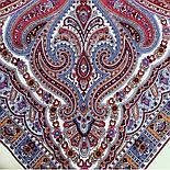 Шелковые травы 1894-3, павлопосадский платок шерстяной (двуниточная шерсть) с шелковой бахромой, фото 2