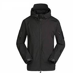 Тактическая куртка Soft Shell ESDY A001 Black L мужская влагозащищенная ветрозащитная ветровка камуфляж