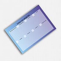 Планер магнитный  на неделю А4 формата (синий)