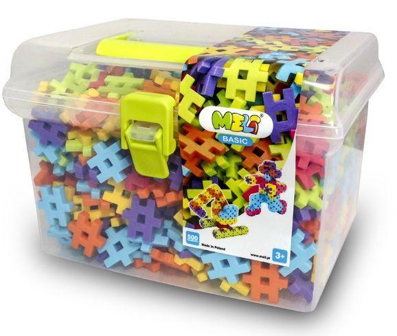 """Конструктор MELI """"BASIC"""" в контейнере для прогулки 500 элементов. (2,5х2,5см)"""