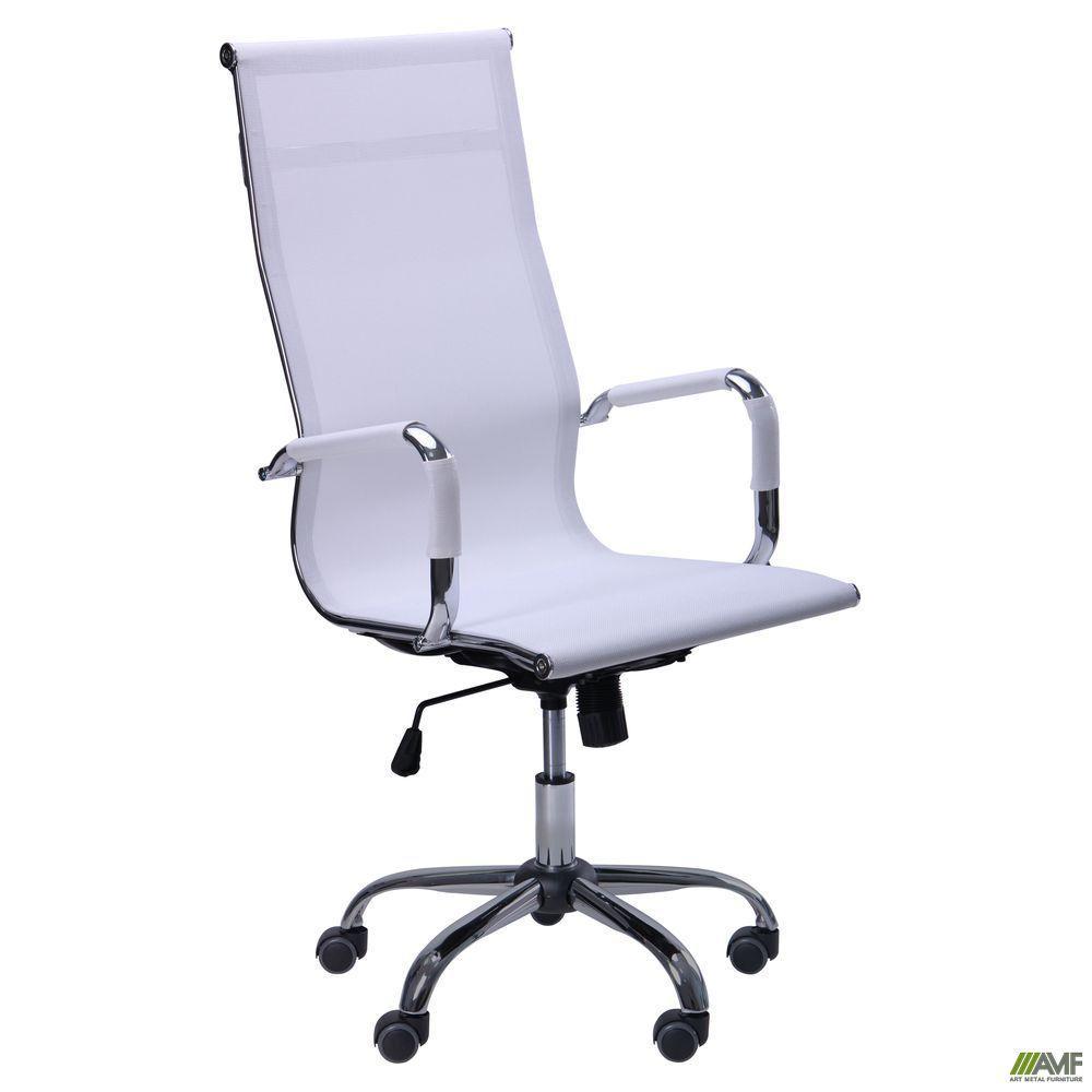 Кресло офисное AMF Slim Net HB белое