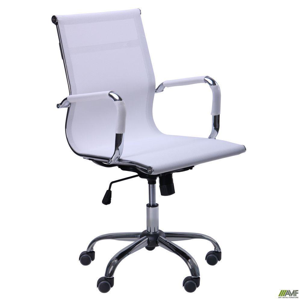 Кресло офисное AMF Slim Net LB белое