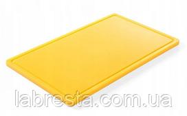 Доска разделочная Hendi 826058 HACCP GN 1/1 - желтая