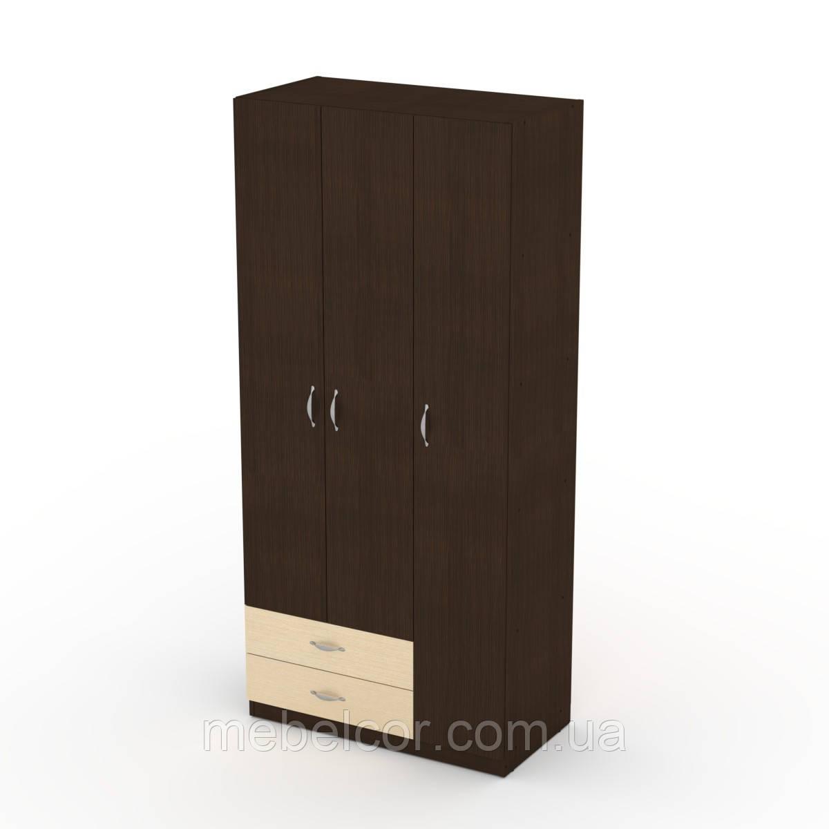 Шкаф-13 ширина 900 мм с полками и ящиками для вещей и отделом для верхней одежды