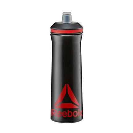 Бутылка для воды Reebok RABT-12005BK черный/красный 0,75л, фото 2
