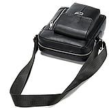 Компактная сумка из кожи Vintage 20030 Черная, фото 6
