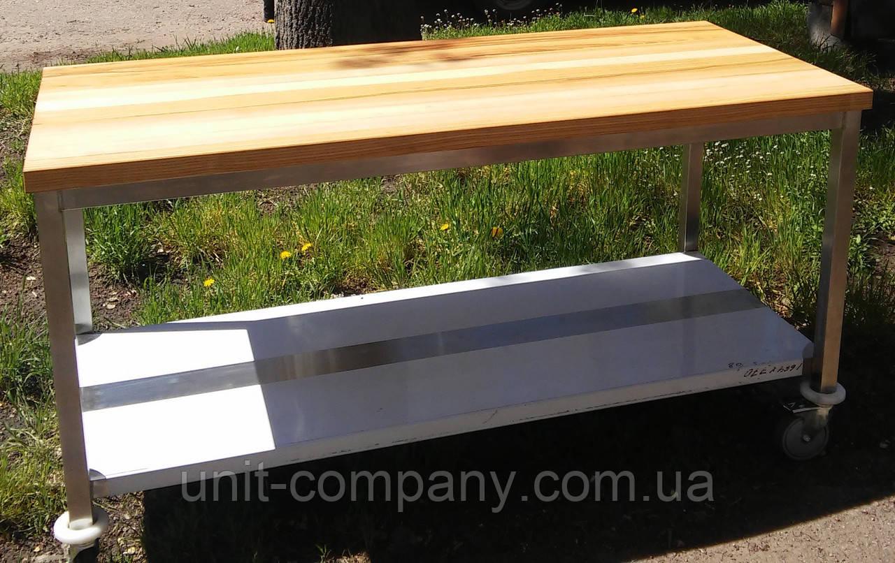 Стіл для борошняних робіт ; стіл з дерев'яною стільницею
