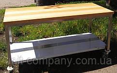 Стол для мучных работ ; стол с деревянной столешницей