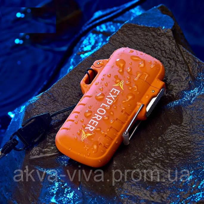 USB зажигалка электроимпульсная Защита от воды (ЮСБ-109)