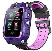 Смарт-часы детские с GPS Brave T10N, фиолетовые, фото 1