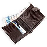 Кожаное портмоне CANPELLINI 17028 Коричневое, Коричневый, фото 3