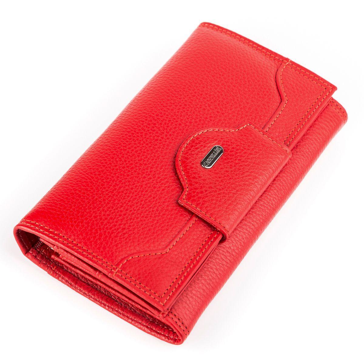 Кошелек женский CANPELLINI 17046 кожаный Красный, Красный