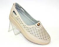 Туфли женские летние, бежевые