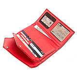 Кошелек женский KARYA 17189 кожаный Красный, Красный, фото 3
