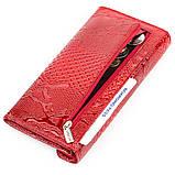 Кошелек женский KARYA 17189 кожаный Красный, Красный, фото 5