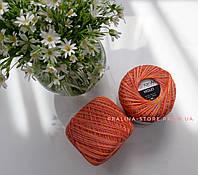 Пряжа YarnArt Violet мерсеризованный хлопок Ярнарт Виолет оранжевый меланж