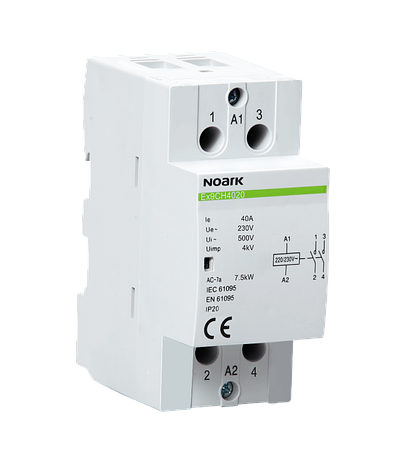 Модульный контактор Noark 25А 2NO+2NC 220/230V Ex9CH2522 107414, фото 2