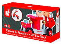 Пожарная машина с инструментами, игровой набор, Janod