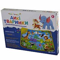 Детский музыкальный коврик Співоче подвіря Дикие животные 782-U
