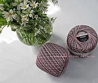 Пряжа YarnArt Violet мерсеризованный хлопок Ярнарт Виолет розово серый меланж
