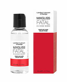 Лубрикант на силиконовой основе MixGliss FATAL - VALVET ROSE (50 мл)