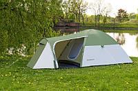 Туристическая палатка MONSUN 4 PRO 3500 мм зеленая на 4 человека Польша