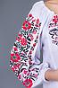 """Женская вышиванка крестиком """"Традиция"""" красная, фото 3"""