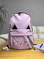 Рюкзак портфель женский розовый (есть другие цвета)