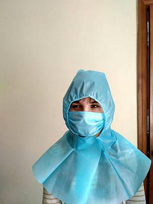 Шапочка косынка защитная есть сертификат на голову для медперсонала или промышленности, фото 2